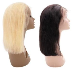 Blonde and Black Straight Bob Wig