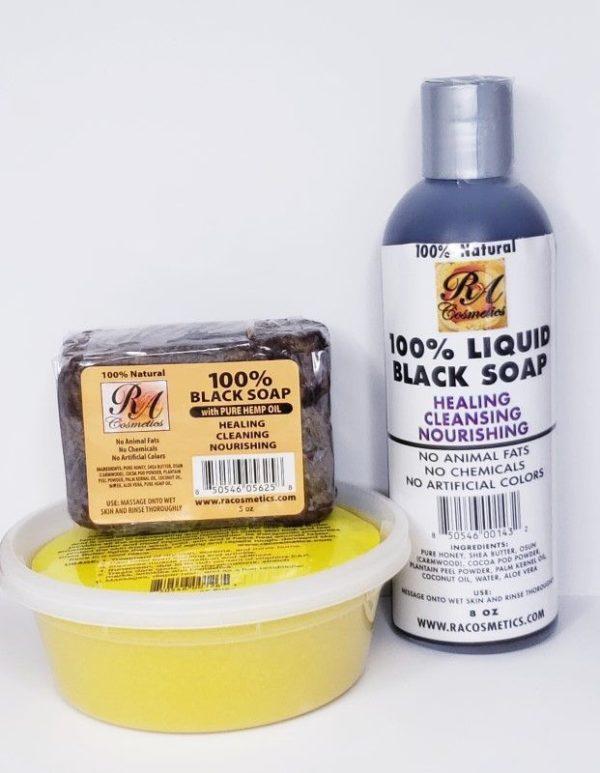 African Shea Butter & Black Soap Combo
