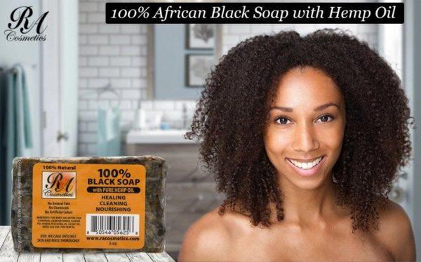 Black Soap with Hemp Oil