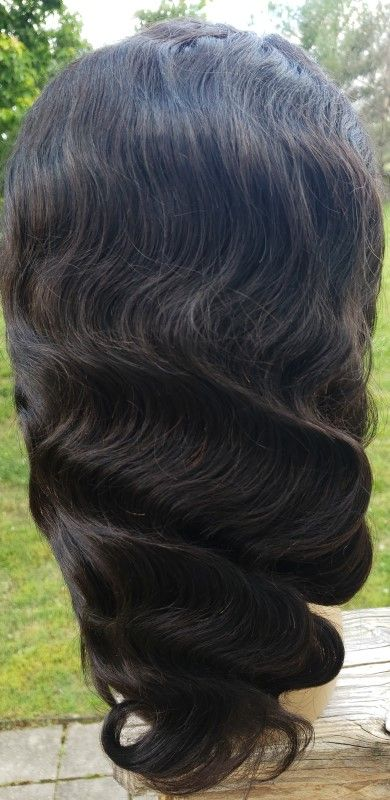 Back of 180% Density Full Lace Wig