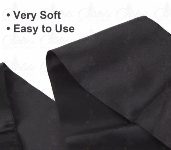 Satin Edge Scarf Soft Material