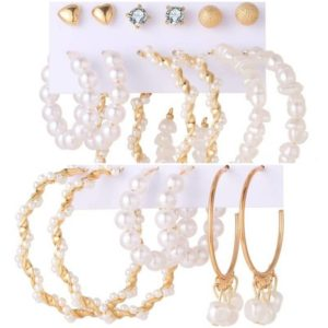 Studs & Hoops Pearl Earring Set