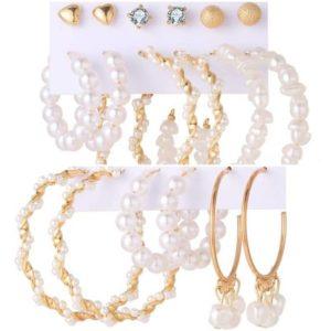 Studs & Hoops Pearl Earring Set